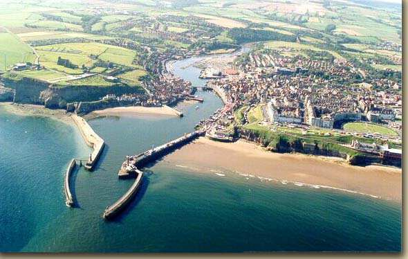 Whitby from the air and the
